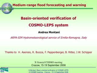 Medium-range flood forecasting and warning