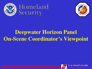Deepwater Horizon Panel On-Scene Coordinator ' s Viewpoint
