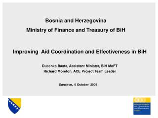 Improving  Aid Coordination and Effectiveness in BiH