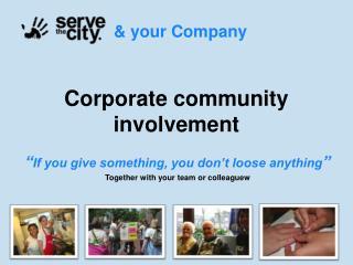 Corporate community involvement