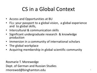 CS in a Global Context