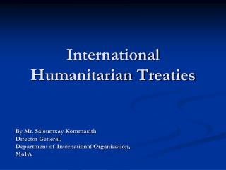 International Humanitarian Treaties