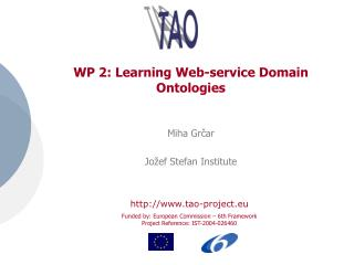 WP 2: Learning Web-service Domain Ontologies