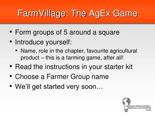 FarmVillage : The  AgEx  Game