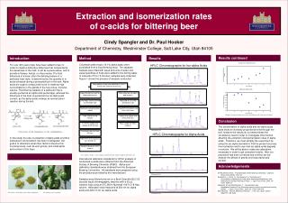 Extraction and isomerization rates  of  α -acids for bittering beer