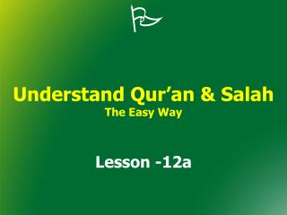 Understand Qur an  Salah The Easy Way
