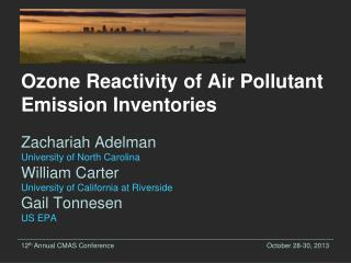Ozone Reactivity of Air Pollutant Emission Inventories