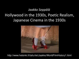 Hollywood in the 1930s, Poetic Realism, Japanese Cinema in the 1930s