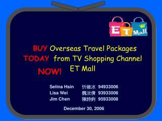 BUY Overseas Travel Packages TODAY from TV Shopping Channel ET Mall
