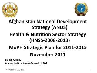 Afghanistan National Development Strategy (ANDS)