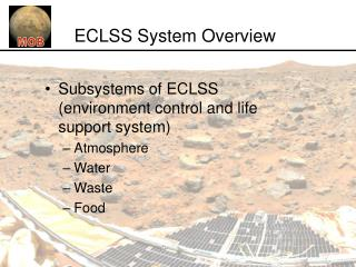ECLSS System Overview