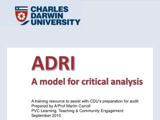 ADRI A model for critical analysis