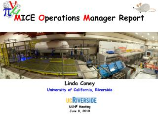 M ICE  O perations  M anager Report