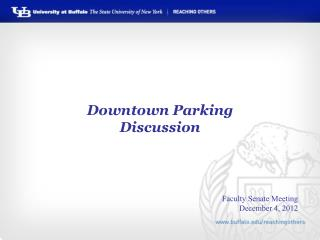 Downtown Parking Discussion