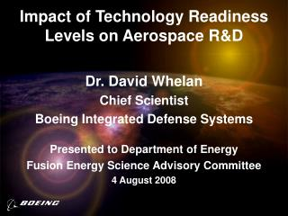Impact of Technology Readiness Levels on Aerospace RD
