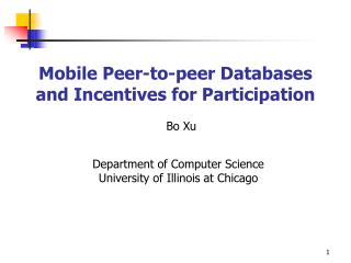 Mobile Peer-to-peer Databases and Incentives for Participation