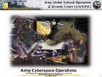 Army Global Network Operations   Security Center A-GNOSC