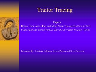Traitor Tracing