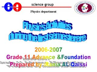 Physic's Activities during the first semesterere