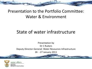 State of water infrastructure
