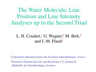 The Water Molecule: Line Position and Line Intensity Analyses up to the Second Triad
