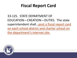 Fiscal Report Card