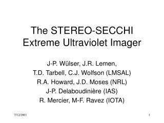 The STEREO-SECCHI Extreme Ultraviolet Imager