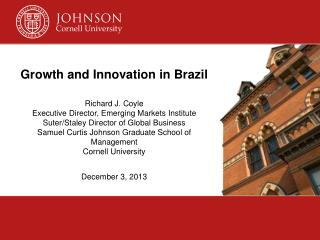 Cornell's Emerging Markets Institute