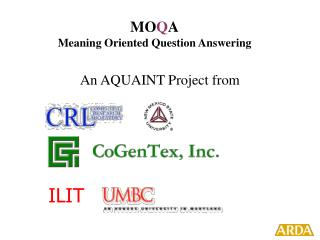 MO Q A Meaning Oriented Question Answering