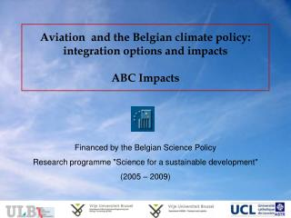 Aviation  and the Belgian climate policy: integration options and impacts ABC Impacts