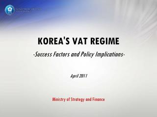 KOREA's VAT Introduction