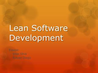 Lean  Software  D evelopment