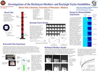 Investigations of the Richtmyer-Meshkov and Rayleigh-Taylor Instabilities