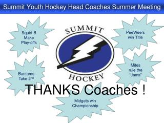 Summit Youth Hockey Head Coaches Summer Meeting