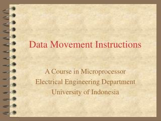 Data Movement Instructions