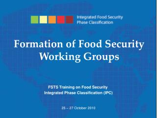 Formation of Food Security Working Groups