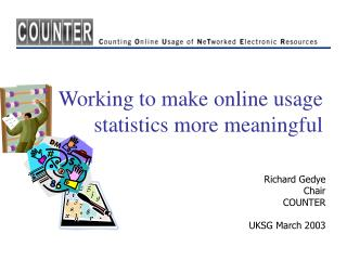 Working to make online usage statistics more meaningful