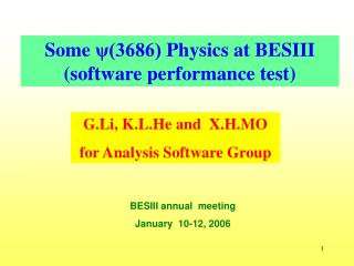 Some  ψ(3686)  Physics at BESIII  (software performance test)