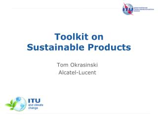 Toolkit on  Sustainable Products