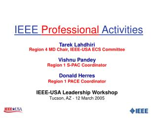IEEE  Professional  Activities