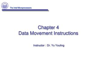 Chapter 4 Data Movement Instructions
