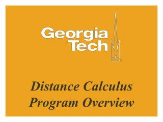 Distance Calculus Program Overview