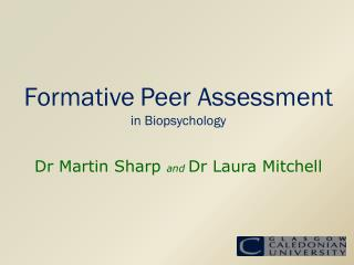 Formative Peer Assessment in Biopsychology