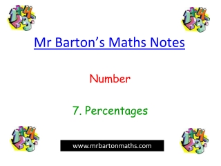 Mr Barton's Maths Notes
