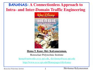 BANANAS:  A Connectionless Approach to Intra- and Inter-Domain Traffic Engineering