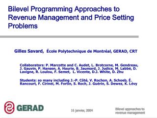 Bilevel Programming Approaches to Revenue Management and Price Setting Problems