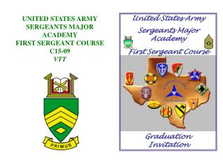 United States Army  Sergeants Major Academy First Sergeant Course