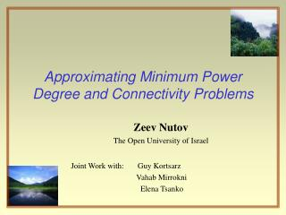 Approximating Minimum Power Degree and Connectivity Problems