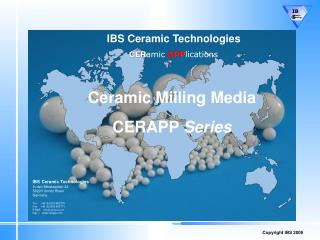 IBS Ceramic Technologies CER amic APP lications