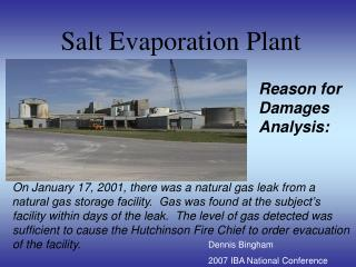 Salt Evaporation Plant